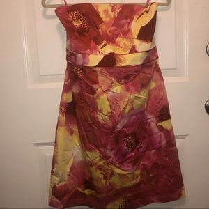 NY&Co strapless floral dress sheath style